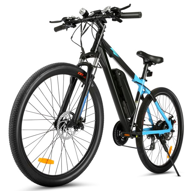 350W Electric Mountain Bike,20MPH Ebike with Removable Waterproof 10.4Ah Battery,Professional 24 Speed Gears