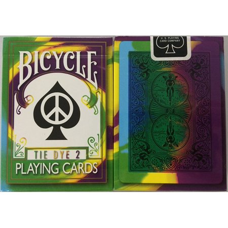 2nd Edition Rare Tie Dye 2 Deck Playing Cards Tye Die Magic, Second Edition Tie Dye Bicycle Playing Cards By Bicycle ()