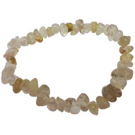 RBI Jewelry Spiritual Supplies Rutilated Quartz Chip Bracelet