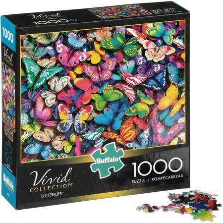 Buffalo™ Vivid Collection™ Butterflies™ Puzzle 1000 pc Box](Box Puzzle)