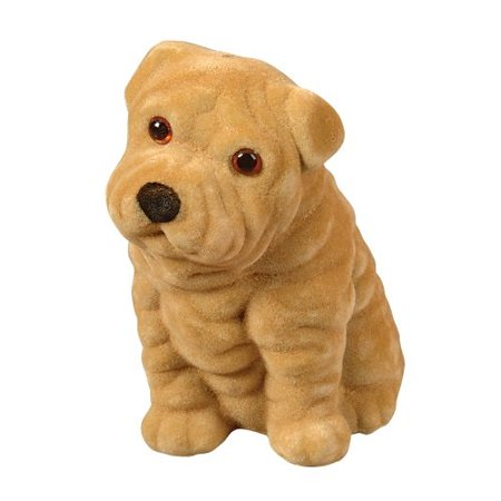- Flocked Puppy Coin Bank [5in]