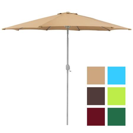 Bcp 9 Aluminum Patio Market Umbrella Tilt W Crank Outdoor Multiple Colors