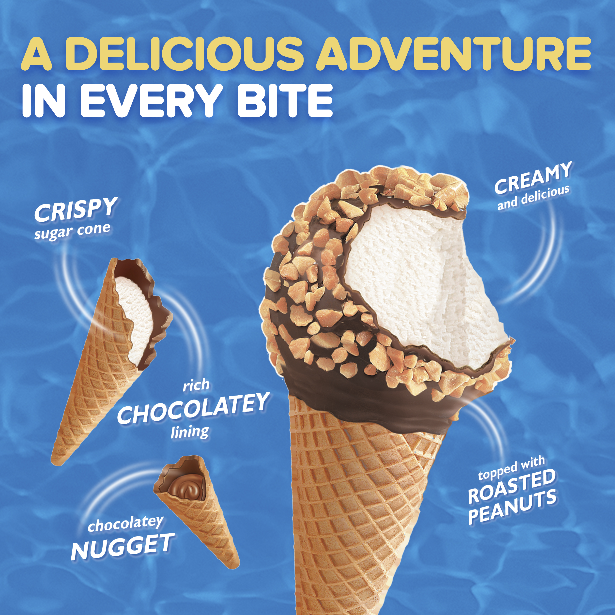 Drumstick Classic Vanilla Ice Cream Cones 8 Ct Box Walmartcom