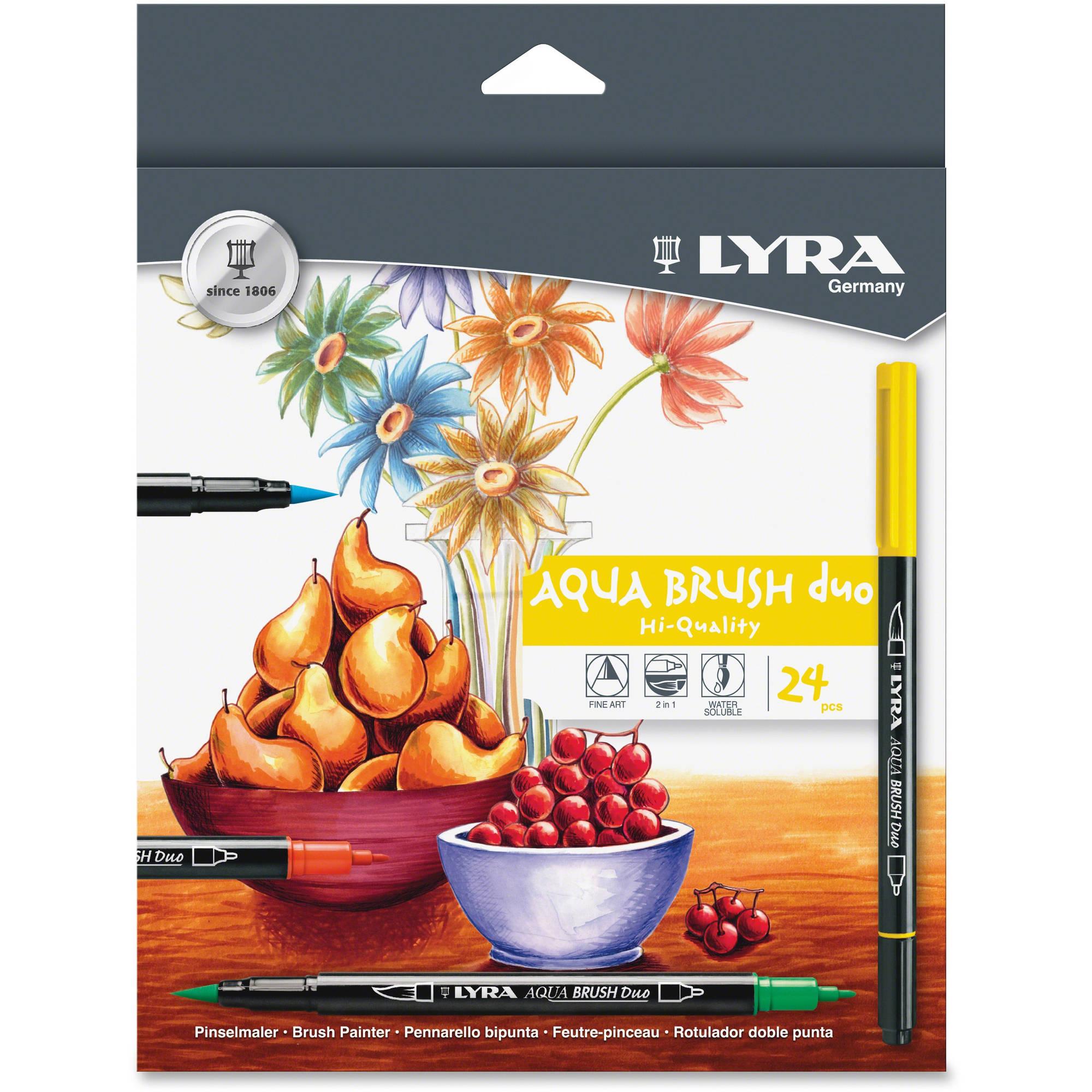 LYRA Dual Tip Marker, Assorted, 24 per Pack