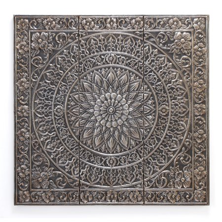Decmode 36 inch traditional square iron raised relief for Al ahram aluminium decoration
