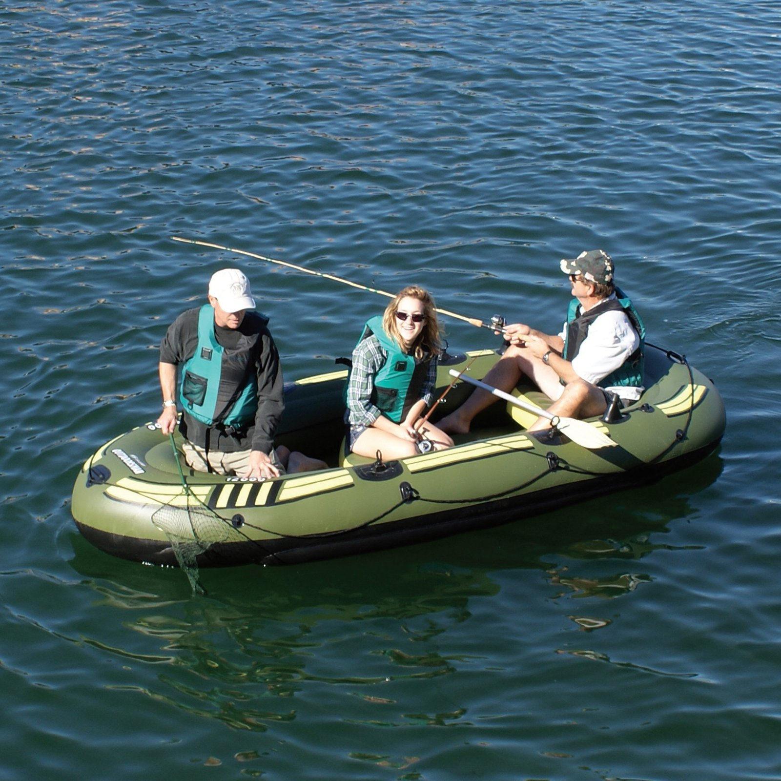 Solstice Outdoorsman Inflatable 6 Person Fishing Boat