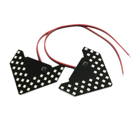 Turn Signal Mirror Lights Arrows (Unique Bargains Unique Bargains 2 Pcs Red 13-SMD 3528  Arrow Panel for Car Side Mirror Turn Signal Lamp)