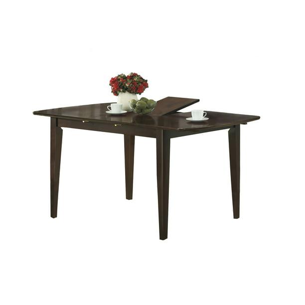 Monarch Dining Table 36 X 48 X 60 Cappuccino With A Leaf Walmart Com Walmart Com