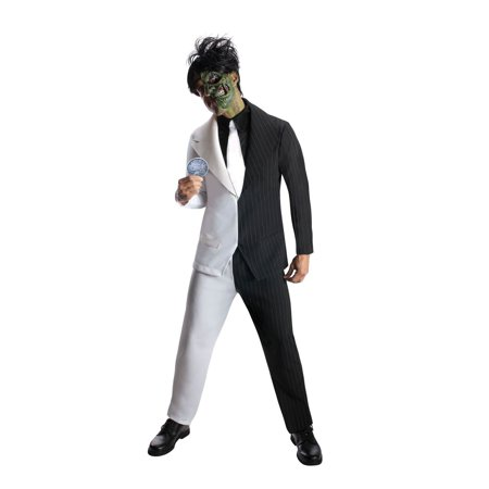 Mens Two Face Halloween Costume](Halloween Saw Face)