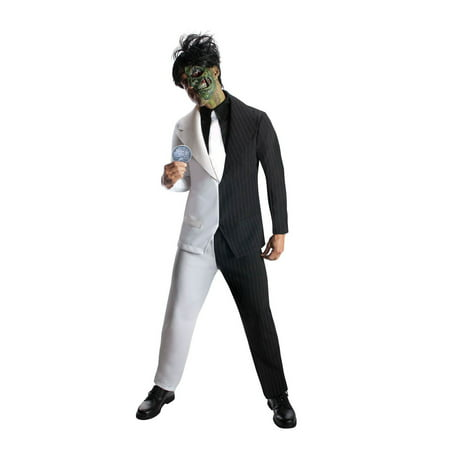 Mens Two Face Halloween Costume - Halloween Zipper Face Uk