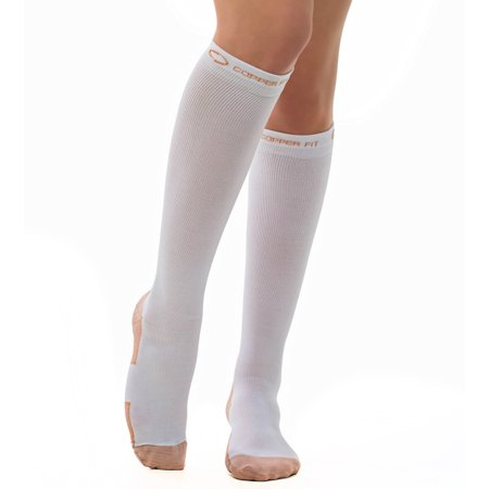 Copper Fit Energy Compression Socks, 1 pack, White, S/M