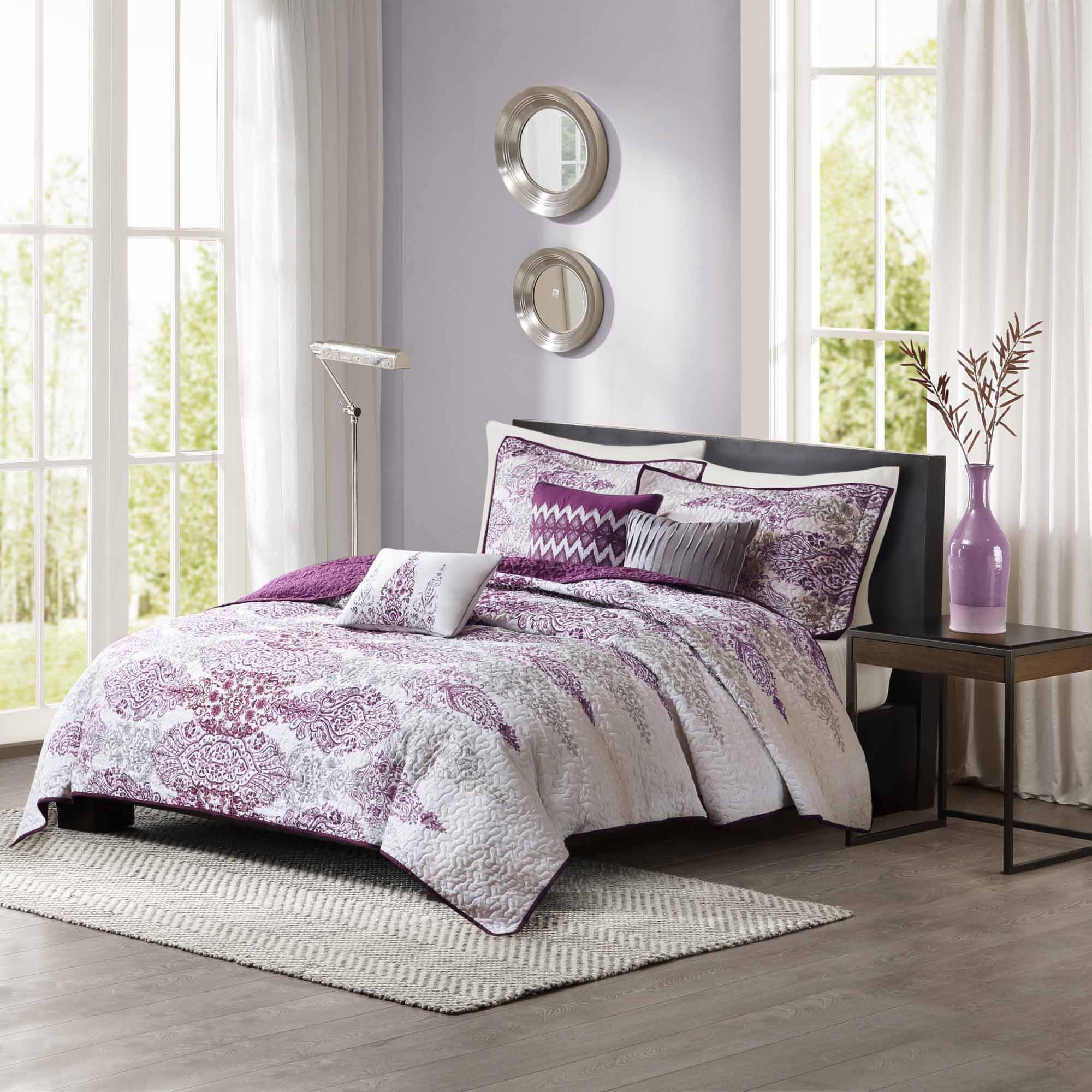 Home Essence Reza 6-Piece Quilted Coverlet Set