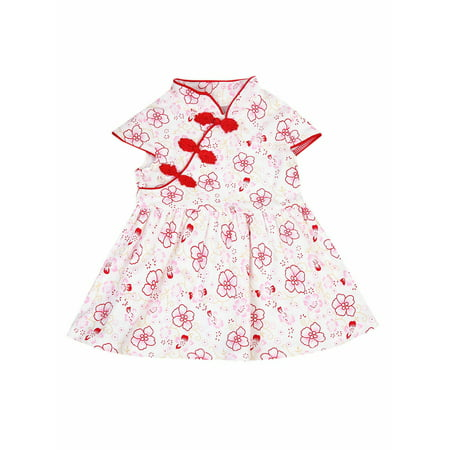 Chinese Attire For Kids (Lookwoild Hot Cute Summer Chinese Infant Baby Girl Floral Cheongsam Qipao Dress)