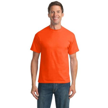 Port & Company® Tall Core Blend Tee. Pc55t Safety Orange Xlt - image 1 of 1