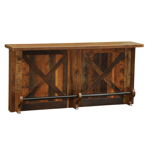 Fireside Lodge Barnwood Home Bar with Wine Storage