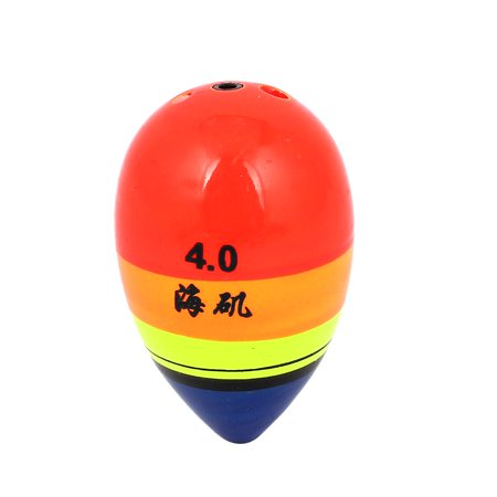 Plastic Fishing Floats (Unique Bargains Colorful Plastic Shell Oval Shaped Angling Fishing Floating)