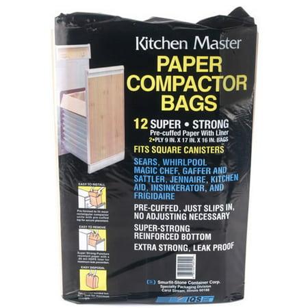 Kitchenaid Trash Compactor Paper Bags 12 Bags 41207001 Walmart Com
