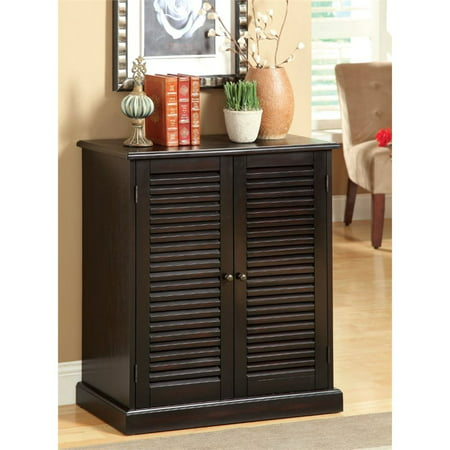Furniture of America Medley Shoe Cabinet in Espresso Shoe Cabinet Furniture