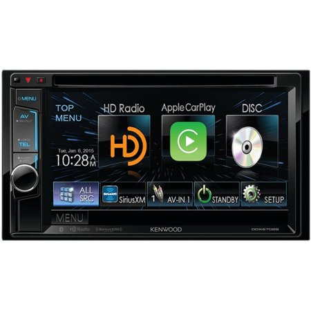 "Kenwood DDX6702S 6.2"" Double-DIN DVD Receiver with Bluetooth, Apple CarPlay, HD Radio, Siri Eyes-Free,... by"