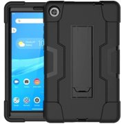Mignova Case for Lenovo Tab M8 Case,Heavy-Duty Drop-Proof and Shock-Resistant Rugged Hybrid case(with Built-in Stand),for Lenovo Tab M8 8.0 inch Case(Black/Black)