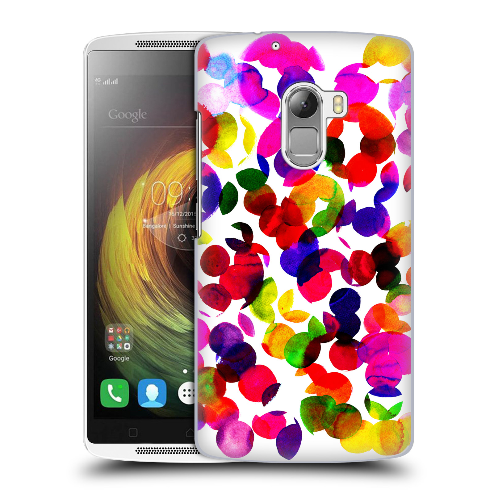 OFFICIAL AMY SIA WATERCOLOUR SPOTS HARD BACK CASE FOR LENOVO PHONES