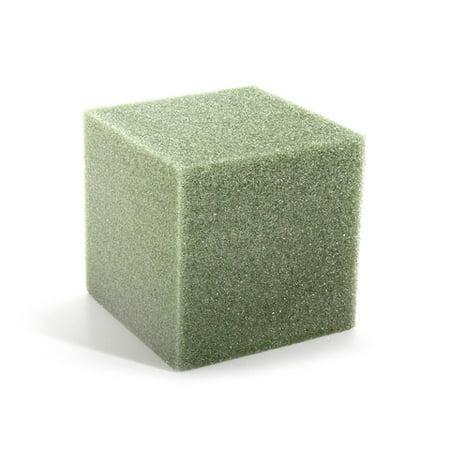 "FloraCraft Design It Styrofoam 8"" Green Cube Green, 1 Each"