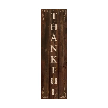 Thankful Vertical Wood Wall Plaque