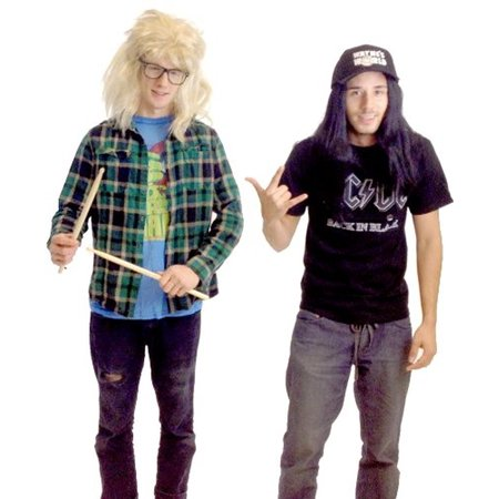Wayne's World Garth and Wayne Costume Set (Wayne And Garth Costumes Halloween)