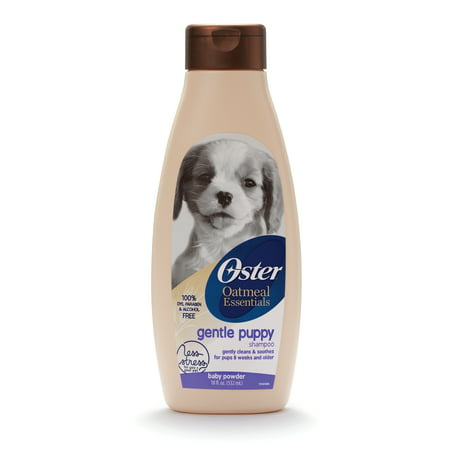 Oster oatmeal naturals gentle puppy shampoo baby powder scent, 18-oz bottle