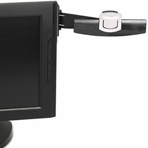 3M Swing Arm Copyholder, Adhesive Monitor Mount, Black by