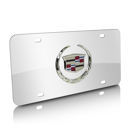 Cadillac Logo Chrome Stainless Steel License Plate