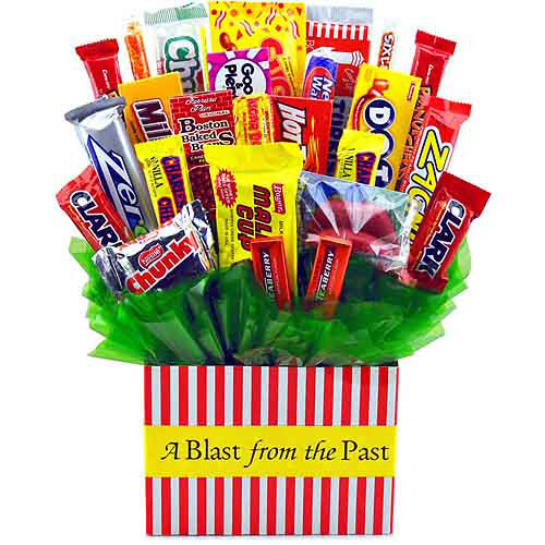 Sweets In Bloom Blast From The Past Retro Candy Bouquet