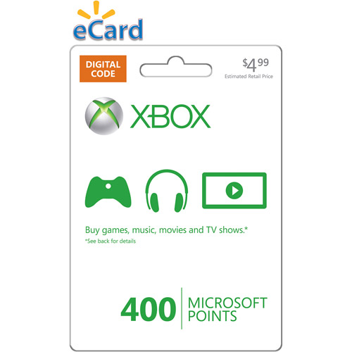 Xbox Live 400 Points Card (Email Delivery)