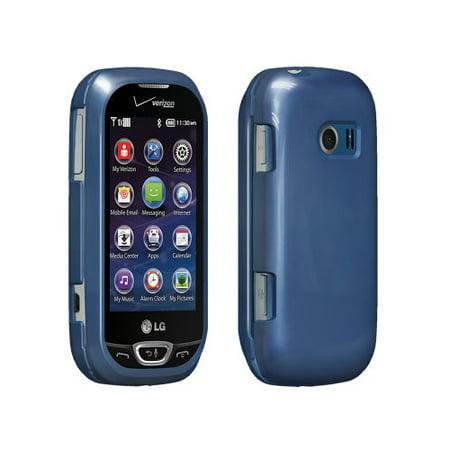 Lg Extravert Vn271 Rubber - Verizon Snap on Case for LG Extravert 2 VN280 - Blue