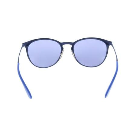 a7abc6e099cf6 Ray-Ban Mirrored Erika RB3539-90221U-54 Blue Round Sunglasses - image 1 ...