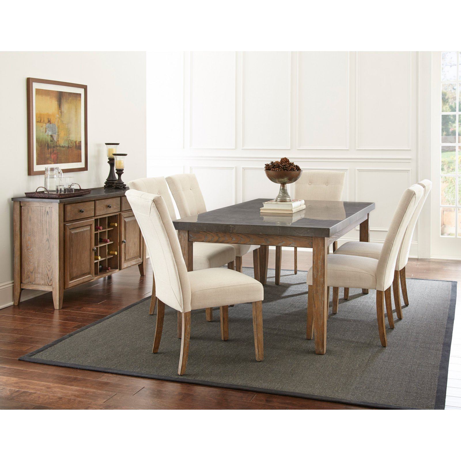 Steve Silver Debby Bluestone Dining Table