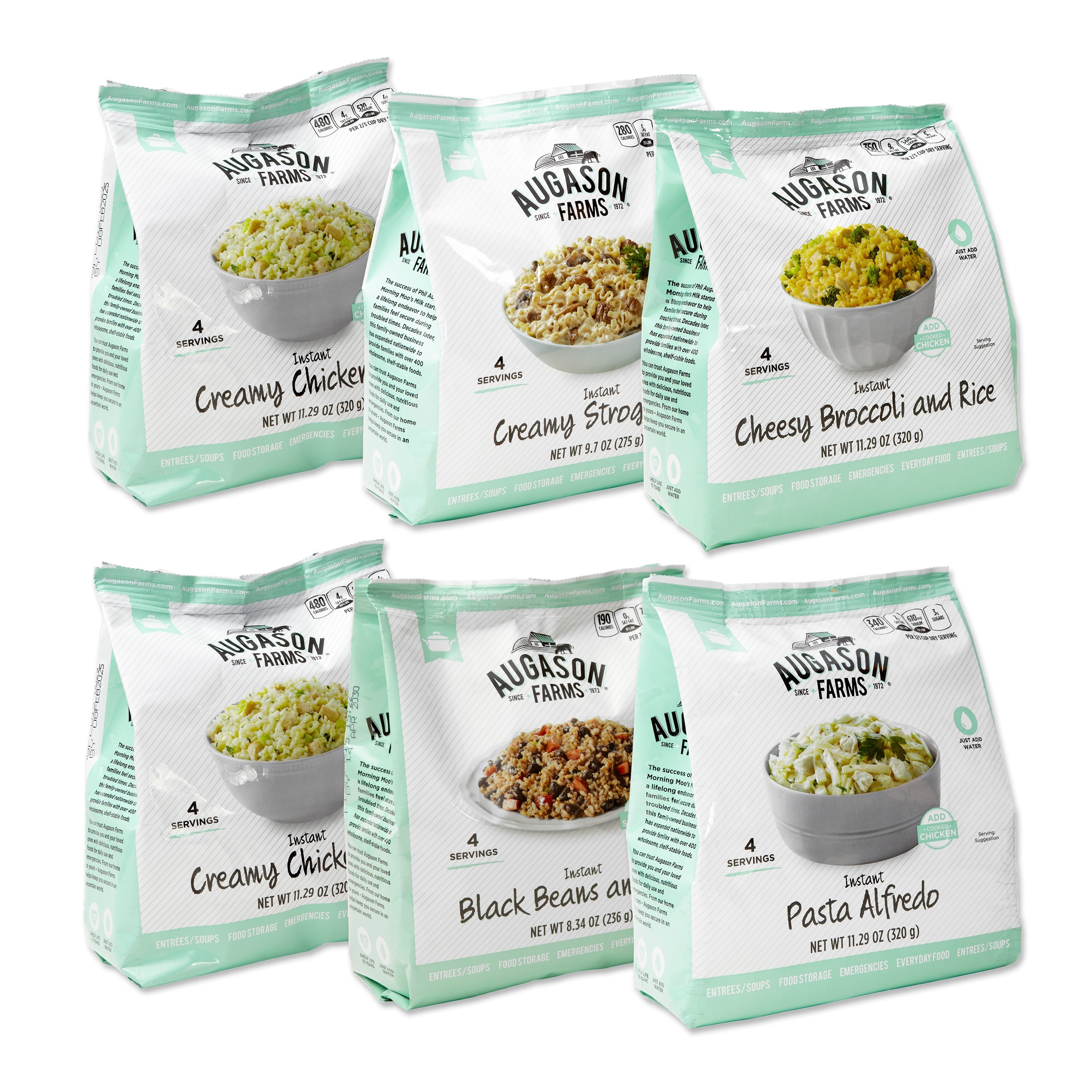 Augason Farms Pantry Pack, Entr?e Variety (6 Pouches) NEW FREE SHIPPING