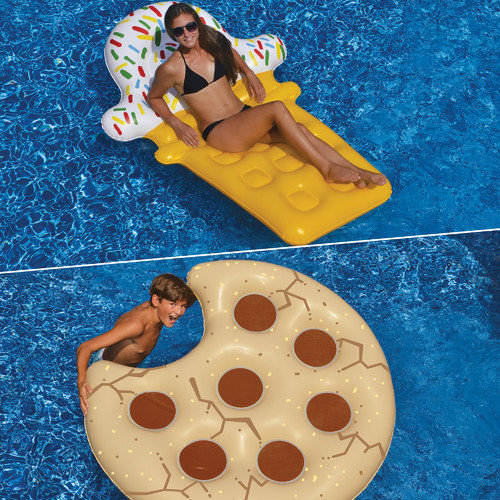 Swimline Ice Cream And Cookie Pool Floats - Set of 2