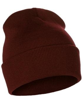 Classic Plain Cuffed Beanie Winter Knit Hat Skully Cap, Unisex Toboggan Hat