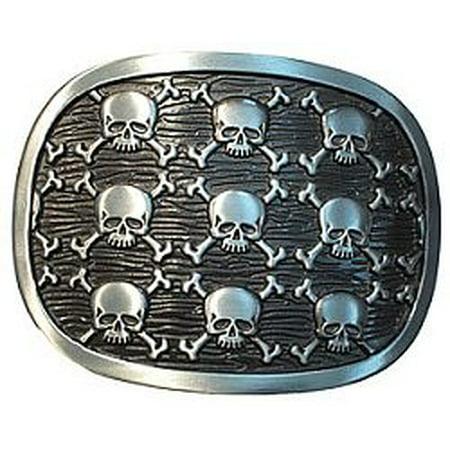 Nine Skulls Belt Buckle