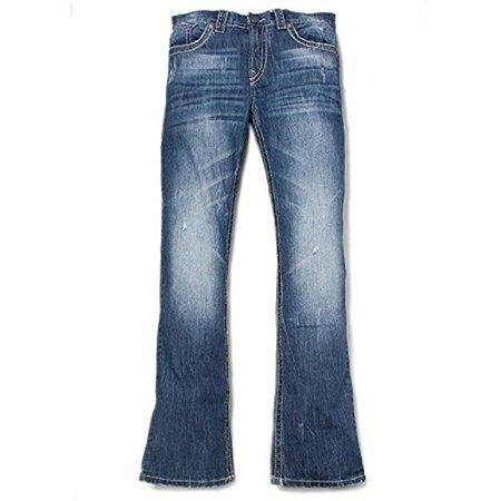 0471862eac7 Men's Axel Wolcott Vintage Boot Cut Manchester Blue Jeans 36X30 -  Walmart.com