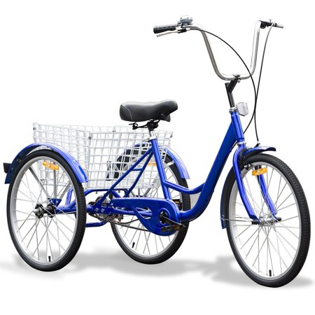 """24"""" Blue Single Speed Tricycle with Adjustable Seat"""