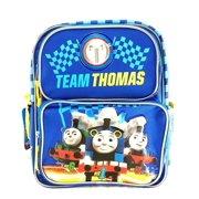 Team Thomas the Train Engine 12 Canvas Blue School Backpack No1 Thomas, Measures around : 12H x 8W x 4D