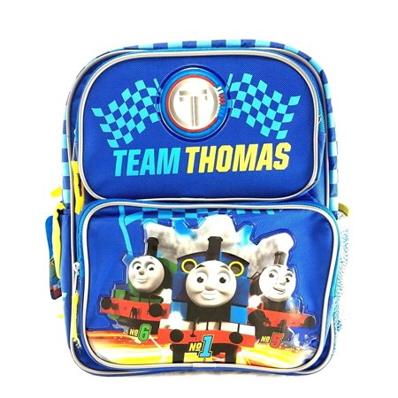 Team Thomas the Train Engine 12 Canvas Blue School Backpack No1 Thomas, Measures around : 12H x 8W x 4D