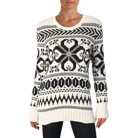 Lauren Ralph Lauren Womens Annah Wool Blend Nordic Pullover Sweater