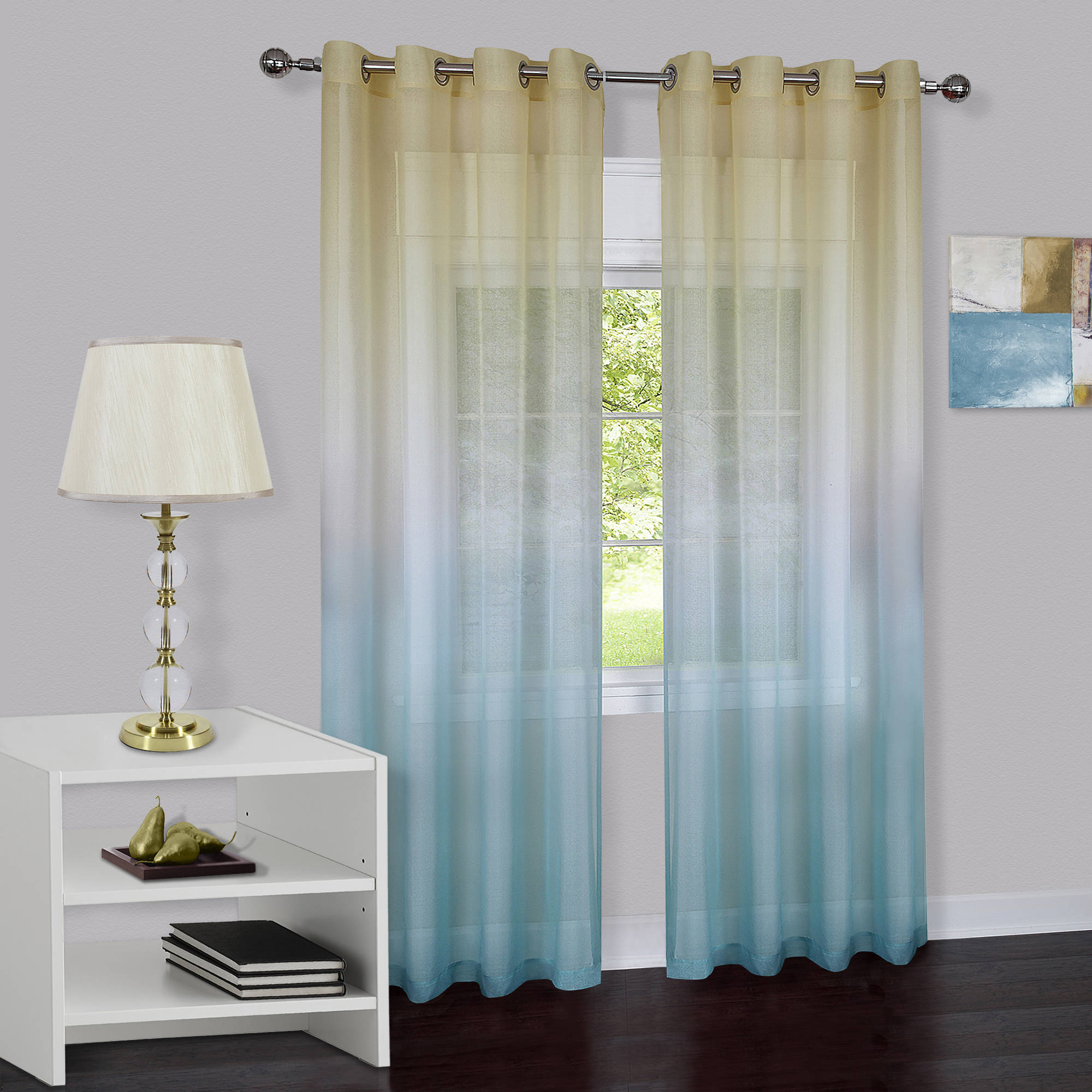 Short Bedroom Curtains Curtains Window Treatments Walmartcom