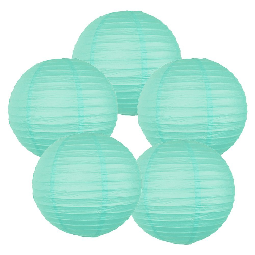 """14"""" (Set of 6 Pcs) Paper Lanterns - Rice Paper Chinese/Japanese Hanging Decorations - For Home Decor, Parties, and Weddings"""