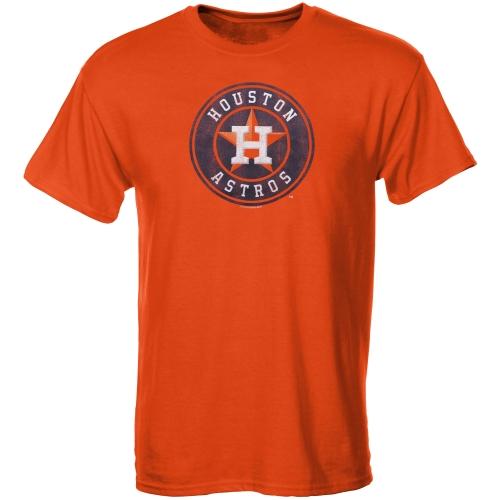 Houston Astros Youth Distressed Logo T-Shirt - Orange