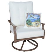 Patio Swivel Lounge Chair (Canvas Vellum)