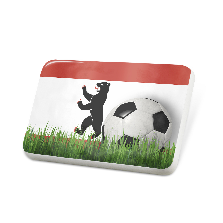 Porcelein Pin Soccer Team Flag Berlin region Germany Lapel Badge – NEONBLOND